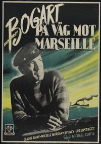 """Passage to Marseille (Warner Brothers, 1944). Swedish Poster (27"""" X 39""""). War Drama. Directed by Michael Curti..."""