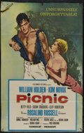 "Movie Posters:Drama, Picnic (Columbia, 1955). One Sheet (25"" X 39""). Drama. Directed by Joshua Logan. Starring William Holden, Rosalind Russell, ..."