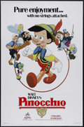 "Movie Posters:Animated, Pinocchio (Buena Vista, R-1984). One Sheet (27"" X 41""). Family. Directed by Walt Disney, Norman Ferguson, Wilfred Jackson, J..."