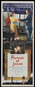 "Movie Posters:Romance, Portrait of Jennie (Selznick Releasing Organization, Inc., 1949). Insert (14"" X 36""). Romantic Fantasy. Directed by William ..."