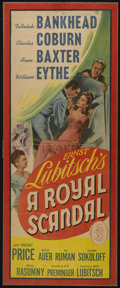 "Movie Posters:Comedy, A Royal Scandal (20th Century Fox, 1945). Insert (13"" X 35""). Romantic Comedy. Directed by Ernst Lubitsch and Otto Preminger..."