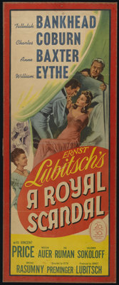 """A Royal Scandal (20th Century Fox, 1945). Insert (13"""" X 35""""). Romantic Comedy. Directed by Ernst Lubitsch and..."""