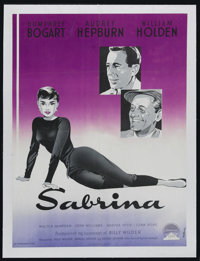 "Sabrina (Paramount, 1954). Swedish Poster (24.5"" X 33""). Romantic Comedy. Directed by Billy Wilder. Starring H..."