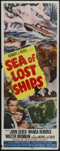 "Movie Posters:Adventure, Sea of Lost Ships (Republic, 1953). Insert (14"" X 36""). Adventure.Directed by Joseph Kane. Starring John Derek, Wanda Hendr..."