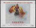 "Movie Posters:Adventure, Sheena (Columbia, 1984). Half Sheet (22"" X 28""). Action. Directedby John Guillermin. Starring Tanya Roberts, Ted Wass, Dono..."