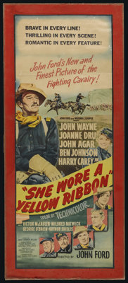 "She Wore a Yellow Ribbon (RKO, 1949). Insert (12.5"" X 34.5""). Western. Directed by John Ford. Starring John Wa..."