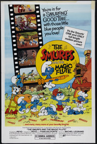 "The Smurfs and the Magic Flute (Atlantic Releasing, 1983). One Sheet (27"" X 41""). Children's/Family. Directed..."