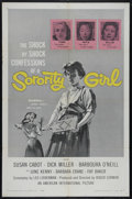 "Movie Posters:Bad Girl, Sorority Girl (American International, 1957). One Sheet (27"" X41""). Drama. Directed by Roger Corman. Starring Susan Cabot, ..."