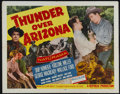 "Movie Posters:Western, Thunder Over Arizona (Republic, 1956). Half Sheet (22"" X 28""). Western. Directed by Joe Kane. Starring Skip Homeier, Kristin..."