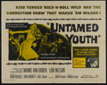 "Movie Posters:Cult Classic, Untamed Youth (Warner Brothers, 1957). Half Sheet (22"" X 28"").Crime. Directed by Howard W. Koch. Starring Mamie van Doren, ..."
