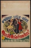 "Movie Posters:Musical, Where Do We Go from Here? (20th Century Fox, 1945). Window Card (14"" X 22""). Musical Fantasy. Directed by Gregory Ratoff. St..."