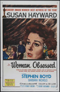 "Movie Posters:Romance, Woman Obsessed (20th Century Fox, 1959). One Sheet (27"" X 41""). Drama. Directed by Henry Hathaway. Starring Susan Hayward, S..."