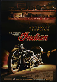 "The World's Fastest Indian (Magnolia Pictures, 2005). One Sheet (27"" X 41""). Biography. Directed by Roger Dona..."