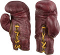 Boxing Collectibles:Memorabilia, 1950's Archie Moore Worn Boxing Gloves....