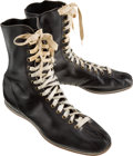 Boxing Collectibles:Memorabilia, 1950's Archie Moore Worn Boxing Shoes....