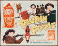 "Movie Posters:Comedy, Feudin' Fools (Monogram, 1952). Half Sheet (22"" X 28""). Comedy.. ..."