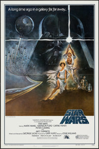 "Star Wars (20th Century Fox, 1977). First Printing One Sheet (27"" X 41"") Flat Folded Style A. Science Fiction..."