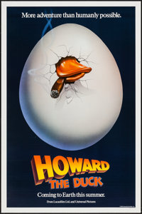 "Howard the Duck (Universal, 1986). One Sheets (2) (27"" X 41"") Advance Style A & B. Comedy. ... (Total:..."