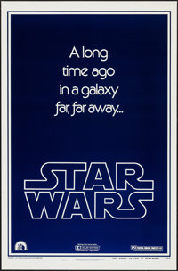"Star Wars (20th Century Fox, 1977). One Sheet (27"" X 41"") Advance Style B. Science Fiction"