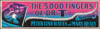 "The 5000 Fingers of Dr. T (Columbia, 1953). Banner (24"" X 82""). Fantasy"