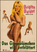 "Movie Posters:Foreign, Mademoiselle Striptease (Mercator Filmverleih, 1963). First Release German A1 (23.25"" X 33""). Foreign. Original Title: Plu..."