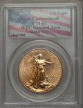 Modern Bullion Coins, 1998 $50 One-Ounce Gold Eagle, 9-11-01 World Trade Center Ground Zero Recovery, Gem Uncirculated PCGS. PCGS Population (0/2...