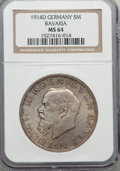 German States:Bavaria, German States: Bavaria. Ludwig III 5 Mark 1914-D MS64 NGC,...
