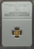 California Fractional Gold , 1873 50C Liberty Octagonal 50 Cents, BG-915, Low R.4, MS65 NGC. NGCCensus: (5/9). PCGS Population (24/2). . From The El...