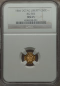 California Fractional Gold , 1866 50C Liberty Octagonal 50 Cents, BG-903, High R.5, MS65 NGC.NGC Census: (3/2). PCGS Population (4/1). . From The El...