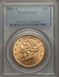 Liberty Double Eagles: , 1891-S $20 MS62 PCGS. PCGS Population (1906/940). NGC Census: (1931/564). Mintage: 1,288,125. Numismedia Wsl. Price for pro...