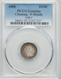 Early Half Dimes, 1800 H10C V-1, LM-1, R.3, -- Cleaning -- PCGS Genuine. FineDetails. NGC Census: (3/11). PCGS Population (0/4). Mintage: 40...