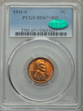 Lincoln Cents: , 1941-S 1C MS67+ Red PCGS. CAC. PCGS Population (226/0). NGC Census: (985/0). Mintage: 92,360,000. Numismedia Wsl. Price for...