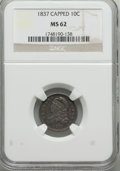 Bust Dimes: , 1837 10C MS62 NGC. NGC Census: (20/51). PCGS Population (10/34).Mintage: 359,500. Numismedia Wsl. Price for problem free N...