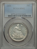 Seated Half Dollars: , 1890 50C MS62 PCGS. PCGS Population (16/82). NGC Census: (5/55). Mintage: 12,000. Numismedia Wsl. Price for problem free NG...