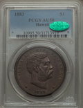 Coins of Hawaii , 1883 $1 Hawaii Dollar AU50 PCGS. CAC. PCGS Population (67/207). NGC Census: (30/189). Mintage: 46,348. ...