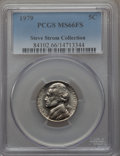 Jefferson Nickels, 1979 5C MS66 Full Steps PCGS. PCGS Population (13/0). . From The Steve Strom Collection....