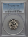 1971-D 5C MS67 Full Steps PCGS. PCGS Population (0/0). NGC Census: (12/0). From The Steve Strom Collection....(PCGS# 740...