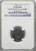 Early Dimes, 1798 10C Small 8 -- Environmental Damage -- NGC Details. VF. PCGSPopulation (1/13). Numismedia Wsl. Pr...