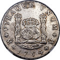 Mexico, Mexico: Ferdinand VI 8 Reales 1754/3 Mo-MM VF Details (SurfaceHairlines) NGC,...