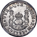 Mexico: Philip V Real 1733 MX-MF/F AU Details (Surface Hairlines) NGC
