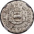 Mexico, Mexico: Ferdinand VI 1/2 Real 1757 Mo-M VF Details (SurfaceHairlines) NGC,...