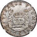 Mexico, Mexico: Ferdinand VI 4 Reales 1759 Mo-MM VF Details (ExcessiveSurface Hairlines) NGC,...