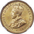 British West Africa, British West Africa: George V tin-brass 6 Pence 1928 MS67 NGC,...