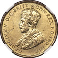 British West Africa: George V tin-brass 2 Shillings 1928 MS62 NGC