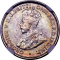 British West Africa, British West Africa: George V silver 3 Pence 1920-H MS65 NGC,...