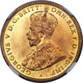 British West Africa, British West Africa: George V tin-brass Shilling 1920-G MS66NGC,...