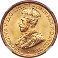 British West Africa, British West Africa: George V tin-brass 6 Pence 1924-KN MS68NGC,...