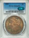 Morgan Dollars: , 1885 $1 MS66 Prooflike PCGS. CAC. PCGS Population (70/4). NGC Census: (47/4). Numismedia Wsl. Price for problem free NGC/P...