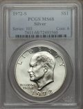 Eisenhower Dollars, 1972-S $1 Silver MS68 PCGS. PCGS Population (1722/20). NGC Census: (414/4). Mintage: 2,193,056. Numismedia Wsl. Price for p...