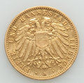 German States:Lubeck, German States: Lubeck. Free City gold 10 Mark 1905-A VF MountRemoved,...
